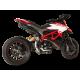 Echappement noir Haut HP Corse homologué Ducati Hypermotard 939 protection carbone