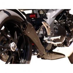 SILENCIEUX HYDROFORM NOIR HOMOLOGUE HP CORSE TRIUMPH SPEED TRIPLE 2011 A 2015