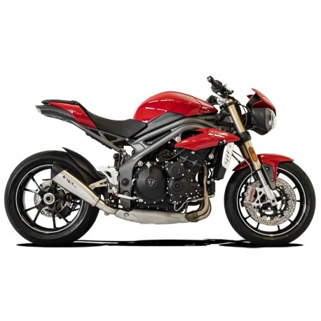 SILENCIEUX HP CORSE EVOXTREM 310 INOX SATINE RACING TRIUMPH SPEED TRIPLE