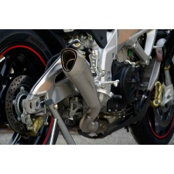 SILENCIEUX HYDROFORM SATIN RACING PASSAGE BAS HP CORSE APRILIA RSV 4
