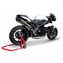 DOUBLE SILENCIEUX HAUT EVOXTREM INOX SATINE HOMOLOGUE TRIUMPH SPEED TRIPLE
