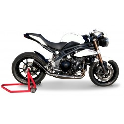 SILENCIEUX HP CORSE EVOXTREM INOX NOIR HOMOLOGUE TRIUMPH SPEED TRIPLE