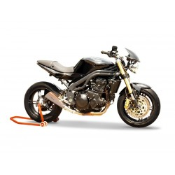 SILENCIEUX HP CORSE EVOXTREM INOX SATIN RACING TRIUMPH SPEED TRIPLE