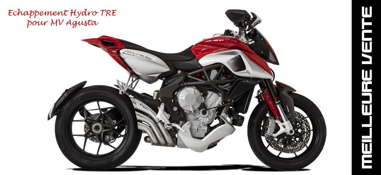 Echappement moto MV Agusta silencieux homologué hydro TRE